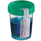 Specimen Container, w/Green Cap, Individually Wrapped, Sterile, 4oz