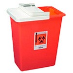 *Limited Quantity* Large Volume Sharps Container, with Hinged Lid, 8gal