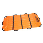 Reeves Heavy-Duty Flexable Stretcher, Lt Weight, 79inch x 38inch, Orange