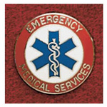Uniform Collar Pin, Emergency Medical Services, Colors May Vary
