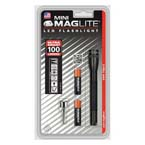 Mini Maglite, Compact Flashlight, 100 Lumens, Black