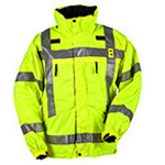 5.11 Men 3-in-1 Reversible Hi-Vis Parka, w/Fleece, XS