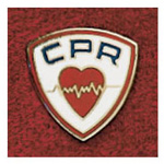 Uniform Pin, CPR, 3/4inch D, Round, Colors May Vary