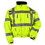 5.11 Men Reversible Hi-Vis Jacket, Reverses from Black to Hi-Vis Yellow, MED