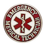 Uniform Pin, EMT, w/Star of Life, Colors May Vary