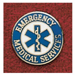 Uniform Pin, Emergency Medical Services, w/Star of Life, Colors May Vary