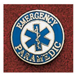 Uniform Pin, Paramedic, w/Star Of Life, 3/4inch D, Round, Colors May Vary