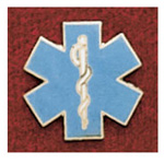 Uniform Pin, Star Of Life Diecut, Colors May Vary