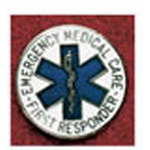 Uniform Pin, First Responder, 1inch D, Round, Safety Pin Backing, Colors May Vary