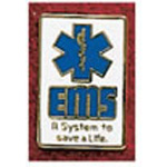 Uniform Pin, EMS System, Colors May Vary