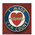 Uniform Pin, I Made CPR Count, w/Tack Clasp, Colors May Vary