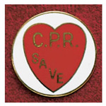 Uniform Pin, CPR Save, 3/8inch x 1 3/4inch, Colors May Vary