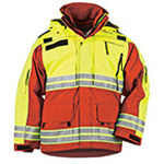 5.11 Men Responder Hi-Vis Parka, Range Red, XL