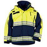 5.11 Men Responder Hi-Vis Parka, Dark Navy, XL