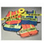 Specialty Vest, Lime Green with Lime Stripes, SAFETY OFFICER Printed