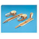 Humane Restraint, Anklets w/Anchor Strap, Leather, 2¾ inch wide, 5 Adjustments