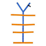 Spider Strap, Full Body System, Nylon, 10 Points of Attachment, Blue and Orange