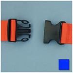 Straps, Polypropylene, Plastic Side Release Buckle, 2 Piece w/Loop Ends, Blue, 5 feet