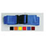 Straps, Nylon, Plastic Side Release Buckle, 2 Piece w/Loop Ends, Blue, 5 feet