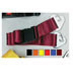 Straps, Nylon, Plastic Side Release Buckle, 2 Piece w/Metal Non-Swivel Speed Clip Ends, Red, 5 feet