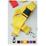 Straps, Nylon, Plastic Side Release Buckle, 2 Piece w/Metal Swivel Speed Clip, Red, 5 feet