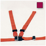 Shoulder Harness Restraint System, Nylon, Adjustable, Maroon