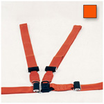 Shoulder Harness Restraint System, Nylon, Adjustable, Orange