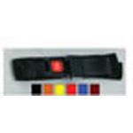 Strap, Nylon, Metal Push Button Buckle, 1 Piece, Yellow, 7 feet
