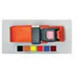 Straps, Nylon, Metal Push Button Buckle, 2 Piece w/Loop Ends, Orange, 7 feet