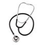 Spectrum Dual-Head/Teaching Stethoscope, Boxed, Adult, Black