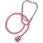 Caliber Dual-Head/Teaching Stethoscope, Boxed, Pediatric, Pink