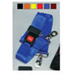 Straps, Nylon, Metal Push Button Buckle, 2 Piece w/Swivel Speed Clip, Blue, 5 feet