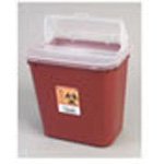 *Limited Quantity* Sharps Container, Large, Red/Black, 10inch x 9 1/2inch x 7inch, 2 Gallon
