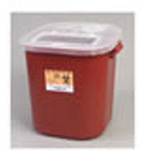 *Limited Quantity* Sharps Container, Extra Large, Red/Black, 13 3/4inch x 14inch x 13 3/4inch, 8 Gallon