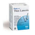 Medisense Thin Lancets, Single Use, 100/BX, 24BX/CS
