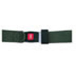 Straps, Nylon, Metal Push Button Buckle, 2 Piece w/Loop Ends, Olive Drab, 5 feet