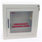 AED Cabinet, with Alarm, 17 1/2inch x 17 1/2inch, Surface Mount