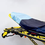 Stretcher Sheet, Flat, Waterproof, Poly and Tissue, Tear Resistant, Dark Blue, 84inch x 40inch