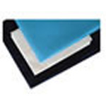 Stretcher Sheet Set, White Fluid Resistant Pillowcase, Light Blue Fitted, Dark Blue Flat, Heavy Duty