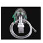 Nebulizer, Adult, with Mask, Non-Swivel Nebulizer Port, w/Medication Chamber, 7 foot Tube
