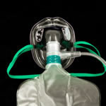 Oxygen Mask, Total Non Rebreather, Elongated, w/o Safety Vent, 7ft Tube, Pediatric