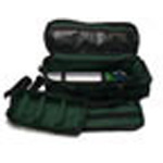 Oxygen Bag, Padded, Reflective Tape, 26inch x 7inch x 9inch, Green