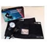 Blood Pressure Unit, Nylon Adjustable Cuff, Metal Inflation Valve, Black, Adult