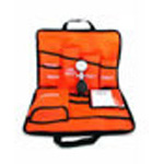 Curaplex Medic 3, BP Unit Kit, Gauge, w/3 Nylon Cuffs, Adult, Child, LG Adult, Orange