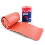 Flex-All Splint, Bendable Foam and Aluminum, Orange, 36inch x 4inch, Rolled