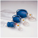 L670 BVM, w/Bag Reservoir, Pop-Off Pressure Relief Valve, Infant Disposable Cuffed Mask