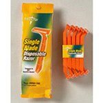 Great Day Razor, Single Blade, Triple Coated, Disposable, Treated w/Chromium, Orange