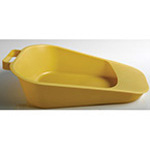 Fracture Bedpan, Disposable, Gold, 12inch L x 9inch W x 3-1/4inch H (Front) x 1inch H (Back)