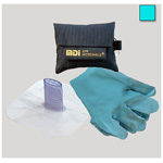 CPR Microkey-Pro CPR Barrier, Protective Device Carried on Keychain, Teal Pouch