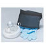 CPR Micromask, Replaceable Valve, w/pair Nitrile Gloves, One-Way Filtered Valve, Zippered Blue Pouch
